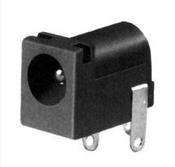 DC barrel socket (PCB mount, OD-5.5mm ID-2.1mm)