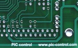 PCB material FR-4 (green mask, white silkscreen)