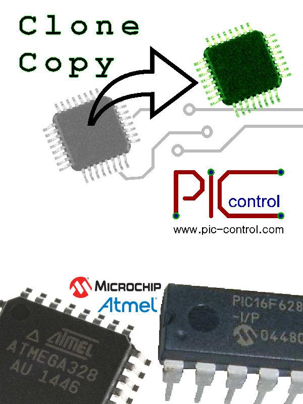 Clone Copy Microcontroller IC Chip