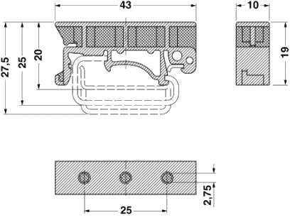 DIN Rail Bracket Clip Dimension