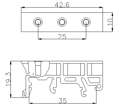 Din Rail Bracket Clip Dimension (Phoenix Contact)