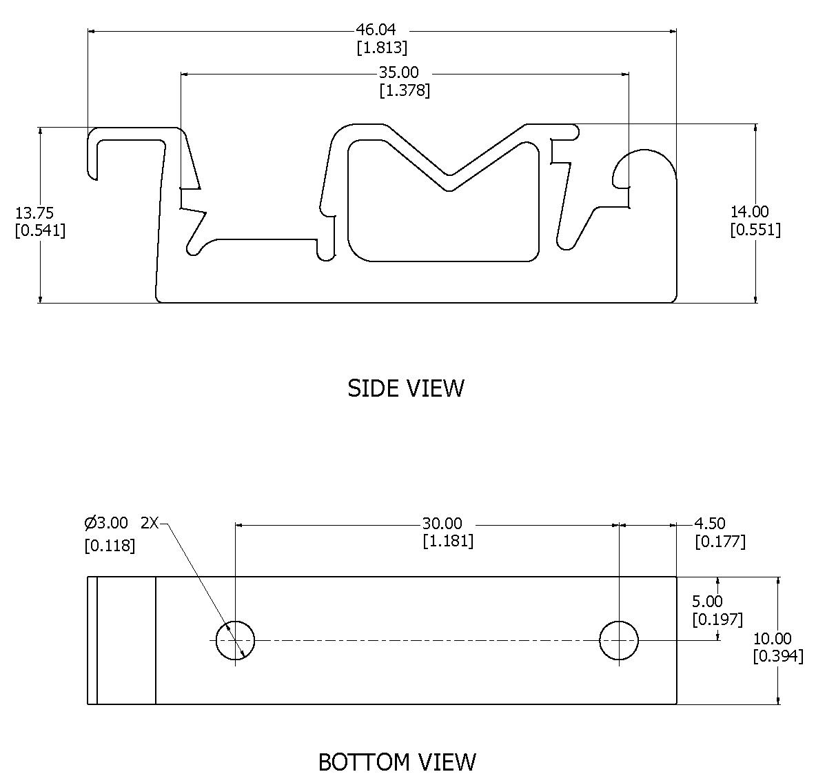 Din Rail Clip Dimension