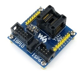 Гнездо адаптера программирования (SOIC14) для микроконтроллера ATtiny44A.