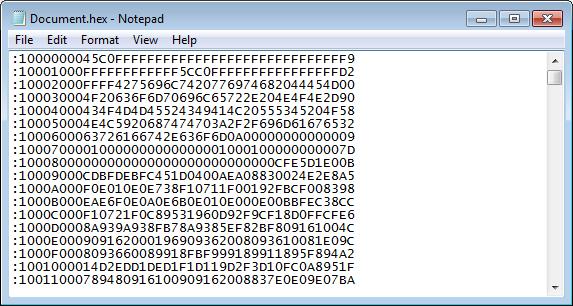 допустимые коды встроенного ПО считываемые с микроконтроллера Atmel