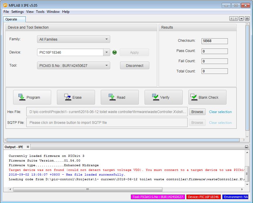 IPE program button