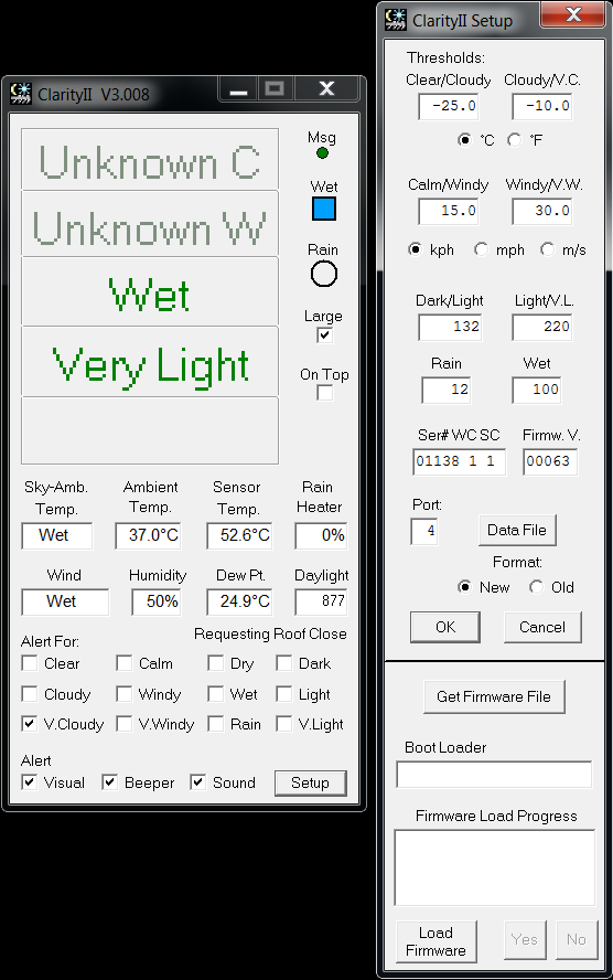 Weather Sensor Status Report