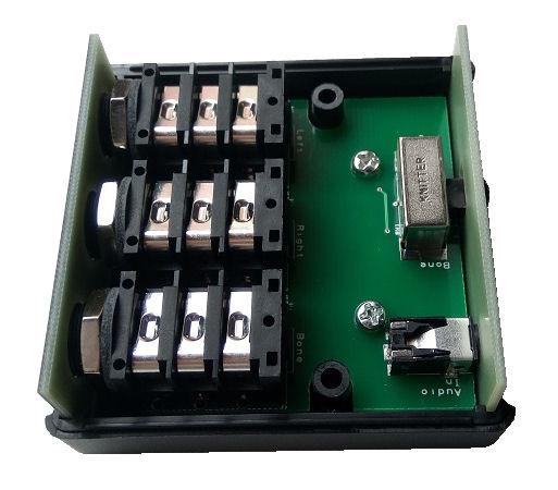 electronic board inside casing enclosure